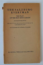 The Salzburg Everyman The Cathedral Play Of The Rich Man's Death 1911 English