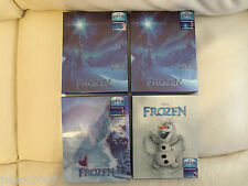 Los 4 Disney Frozen 3d Steelbooks Blu Ray blufans Exclusivo ** Nuevo Y Sellado **