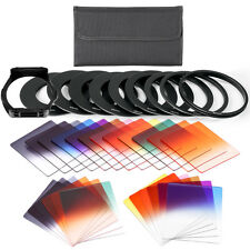 (24)Square Full&Square Colors ND Filter Set+(9)Adapter Ring+(1)Filter Hold+Pouch