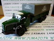 CAMIONS 1/43 altaya IXO BERLIET GLM 10 M1 1956 Plateau baché vert