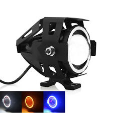 CREE U7 3000LM Angel Devil Eye 125W Motorcycle Bike LED Fog Spot Light Headlight