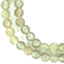 "16"" SHINY NATURAL Moonstone Round ~75 Beads 5.5mm K3226"