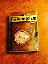 Captain Jules Everlasting Steampunk Flask - Stainless Steel, Leather (Brand New)
