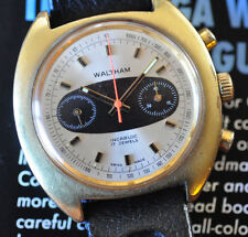 69 Vintage Waltham Surfboard Chronograph Watch All-Original Serviced Runs Strong
