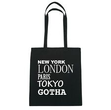 New York, London, Parigi, Tokyo GOTHA - Borsa Di Iuta Borsa - Colore: nero