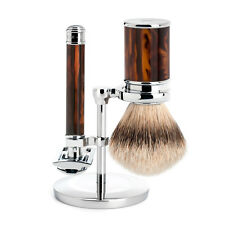 Muhle R108 Closed Comb Double Edge Safety Razor & Silvertip Shaving Brush