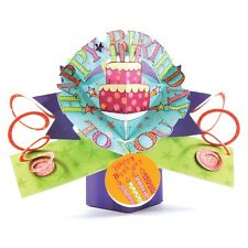 Happy Birthday Cake Pop-Up Greeting Card Original Second Nature 3D Pop Up Cards