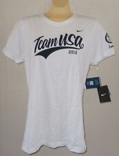 NEW NIKE USA Olympics Team 2012 London WOMENS White Short Sleeve SHIRT XL NWT