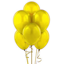 "24 Latex Balloons 12"" When Inflated Solid Colors - Yellow"
