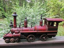 Vintage Large Wood Wooden Locomotive Steam Engine Train SUPER COOL!!