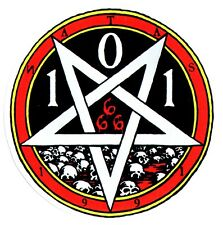 Cliche X 101 Heritage Skateboard Sticker - 666 Upside down Pentagram - skate sk8