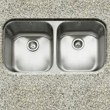 """Great Deal-32"""" Undermount Dbl Bowl Kitchen Sink with 2 free strainers #3219AD-9"""