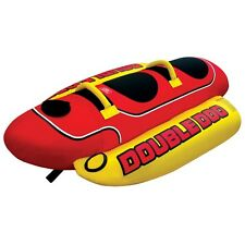 Airhead Double Dog Towable Inflatable Water Ski Deck Tube Banana Ride 2 Rider