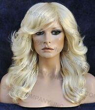 farrah fawcett Glamorous New Big open Wavy Pale Blonde Wig Medium  CA 613