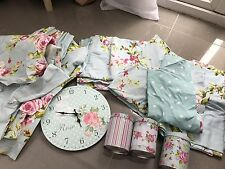 Girls Single Duvet Sets & Curtains, Tie Backs Etc, Baby Blue Floral
