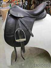 """Schleese EAS Special Plus 17 1/2"""" MW Dressage Saddle Dabbs Fittings Used"""