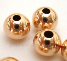 10x 6mm 14k ROSE gold filled round seamless bead spacer high polish shiny RB06