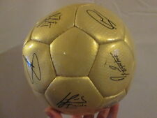 Barcelona 2004-2005 Squad Signed Gold Football Ball with COA /bi