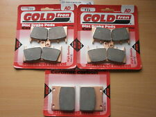 SUZUKI GSXR 750 (SRAD) GSXR750 (1999)   FULL SET SINTERED BRAKE PADS *GOLDFREN*