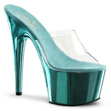 Pleaser Shoes Adore-701 Sandals Mules Stiletto High Heels Peep Toes Pole Dancing