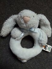 Jellykitten Blue Bunny Rabbit Ring Rattle Plush Soft Toy JELLY1426