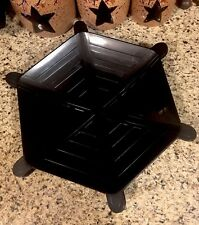 Halloween Black Spider Web Plastic Serving Platter Web Candy Dish Web Chip Tray