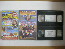 2 x STEP BY STEP LINE DANCING / GREAT NEW DANCES TO LEARN VHS VIDEOS.