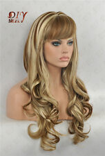 "Curly Dark Diy-Wig 23"" Long Blonde Wavy Women Wig Daily Wear Full Hair 613-6P"