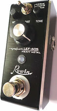 Rowin LEF-605 Mini Heavy Metal Guitar Effect Pedal with True By-Pass