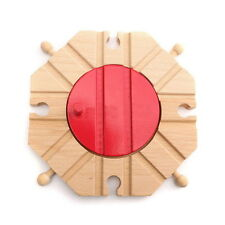 8 Way Turntable Wood Wooden Railway Railroad Train Track Set For Brio Bigjigs #U