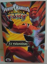 32 VALENTINES Jungle Fury POWER RANGERS Ages 3+ Valentine CARDS NEW 8 Designs