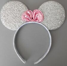 Minnie mouse ears hairband fancy dress party hen night glitter silver