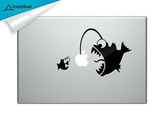 Angler Fish Catching Small Fish - Funny Decal For Your MacBook, Dell and Other