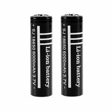2pcs 3.7V 6000mAh 18650 Li-ion Rechargeable Battery for LED Flashlight New BY