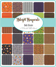 Midnight Masquerade Halloween Moda Charm Pack Quilt Fabric  42   5""