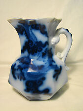 "Mason's Patent Ironstone China Flow Blue Dragon Handle Jug 6 1/2""h c1845-1854"