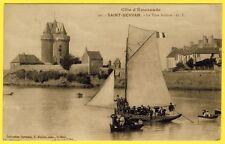 cpa 35 - SAINT SERVAN (Ille et Vilaine) La Tour Solidor Barques BATEAU à Voiles