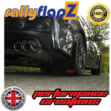 rallyflapZ SUBARU IMPREZA NEW 2015 Model Mud Flaps Black STi small Red 3mm PVC