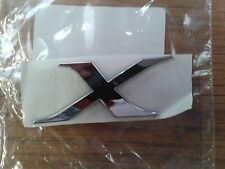 "MITSUBISHI LANCER EVOLUTION FQ/EVO 10 ""X"" BADGE in Chrome"