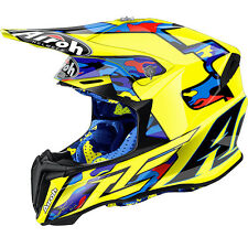 AIROH CASCO TWIST 2016 TC16 GIALLO BLU YELLOW HELMET MOTO CROSS ENDURO TG L