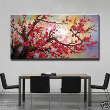 """Modern Hand-painted Art Oil Painting Wall Decor Canvas """"Wintersweet"""" No Frame"""