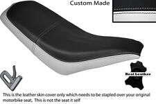 BLACK & WHITE CUSTOM FITS KAZUMA FALCON 110 150 250 ATV QUAD LEATHER SEAT COVER