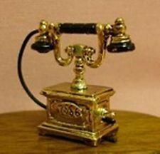 Dollhouse Miniature Furniture Brass Victorian Telephone