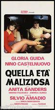 QUELLA ETÀ MALIZIOSA LOCANDINA CINEMA FILM GLORIA GUIDA SEXY CULT 1975 PLAYBILL