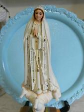RARE~Musical Virgin Mary w/Glass Eyes Statue~White Doves~Amethyst Jewels