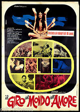 IL GIRO DEL MONDO DELL'AMORE MANIFESTO CINEMA MONDO MOVIE 1970 SEX REPORT POSTER