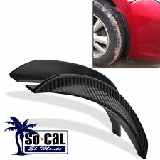 2X 25CM CAR CARBON FIBER STYLE FENDER FLARE WHEEL LIP GUARD DECORATIVE PROTECTOR