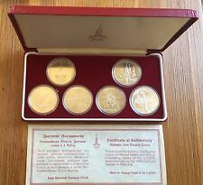 USSR RUSSIA  OFFICIAL SET 6 COINS -  1 ROUBLE  COMMEMORATING 1980 OLYMPIC GAMES