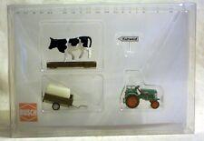 Busch 40054: Traktor Kramer KL II mit Anhänger und Kuh in H0 - NEU & OVP