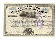 Chicago Rock Island and Pacific  Railroad 1888    50Share